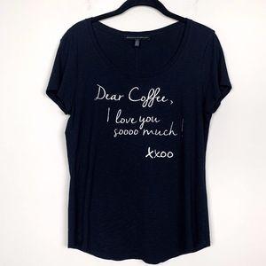 """WHBM """"Coffee Love"""" Graphic Tee S"""